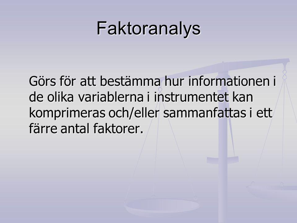 Faktoranalys