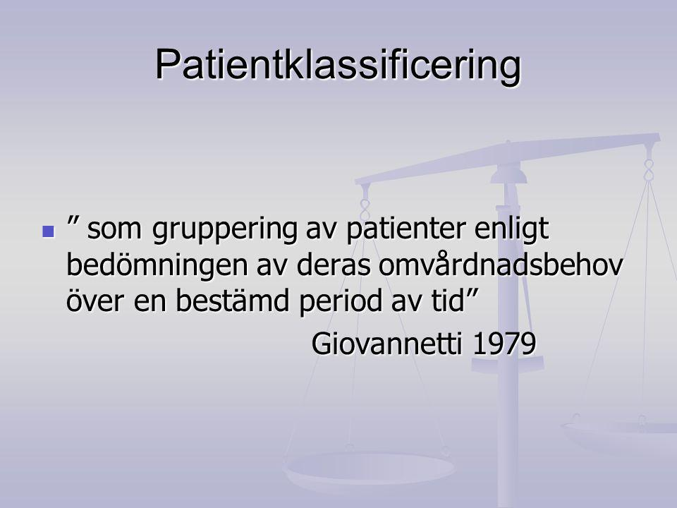 Patientklassificering
