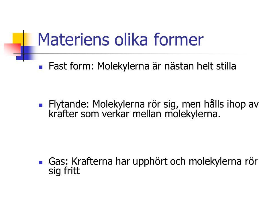 Materiens olika former