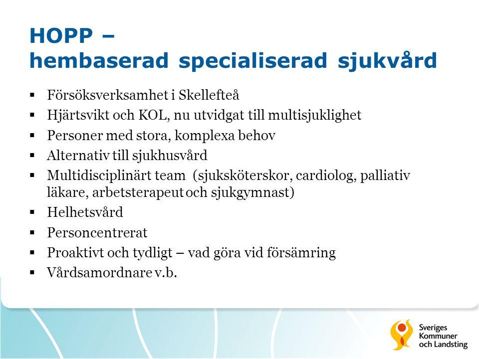 HOPP – hembaserad specialiserad sjukvård