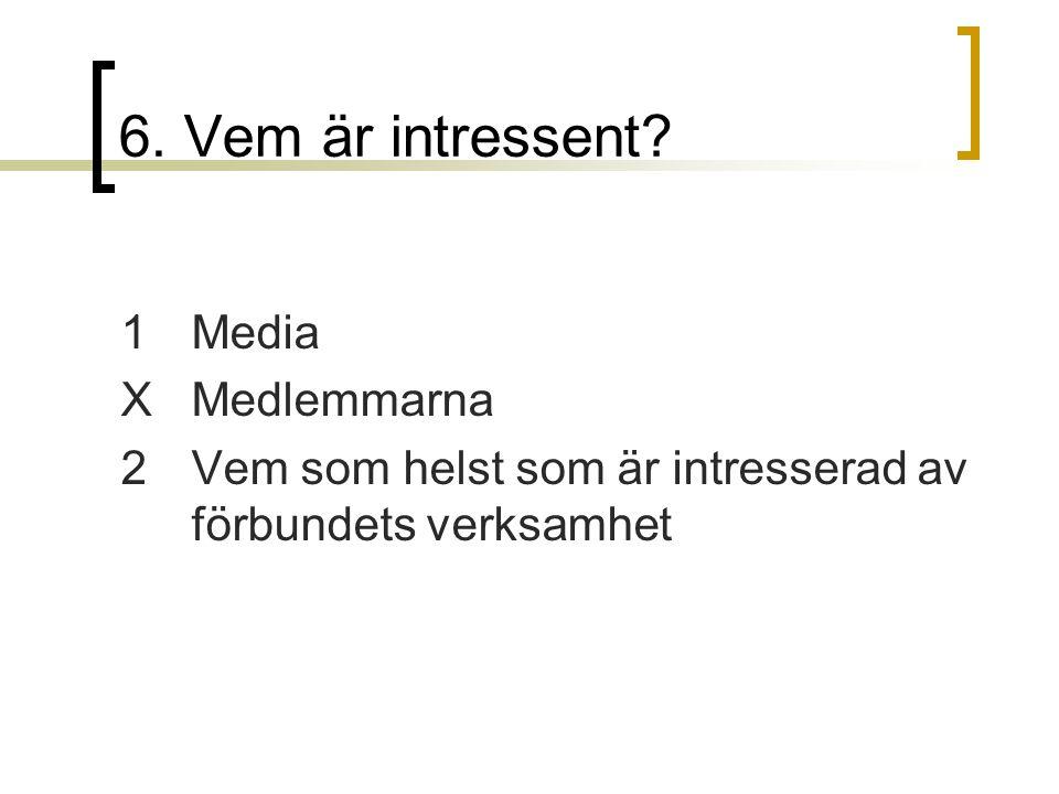 6. Vem är intressent 1 Media X Medlemmarna