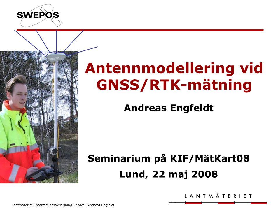 Antennmodellering vid GNSS/RTK-mätning