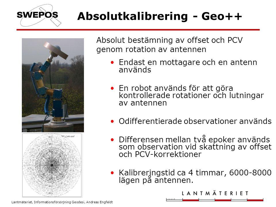 Absolutkalibrering - Geo++