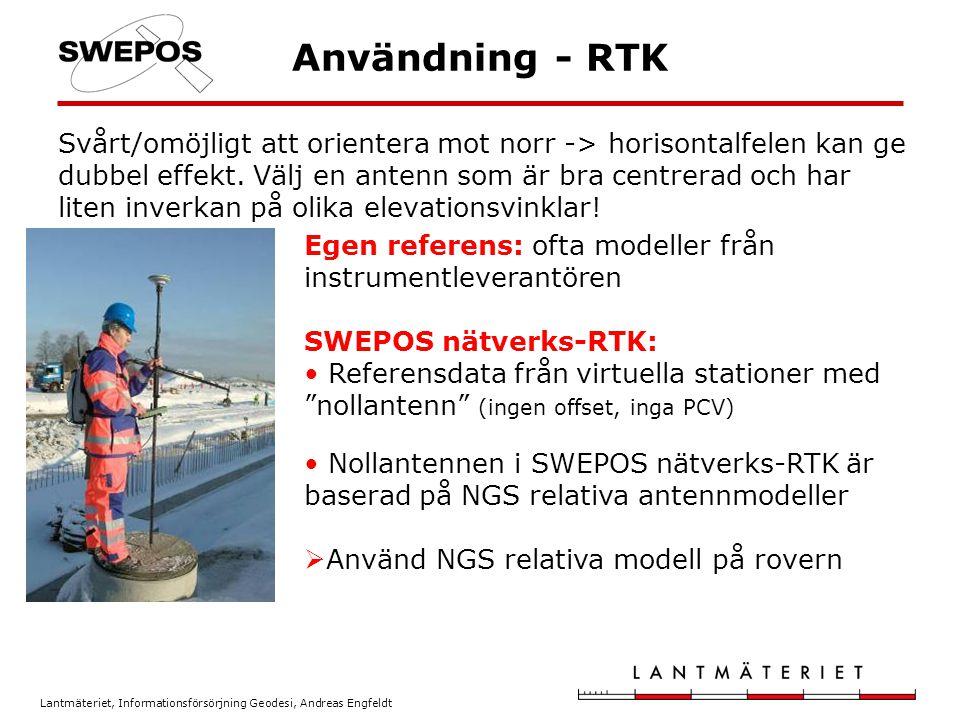 Användning - RTK