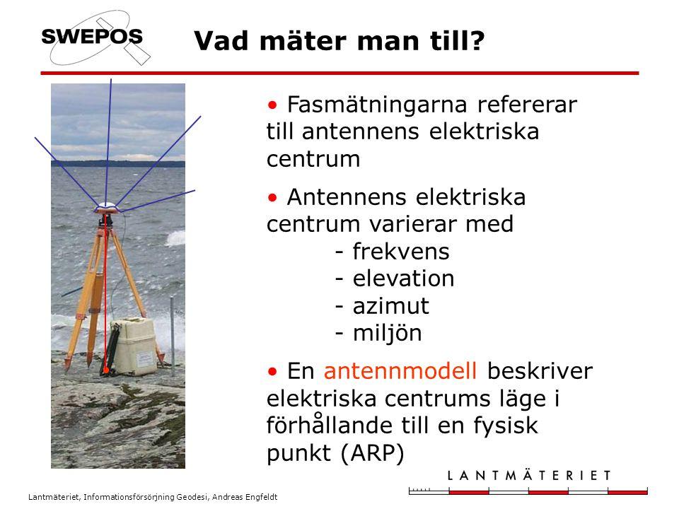 Vad mäter man till Fasmätningarna refererar till antennens elektriska centrum.
