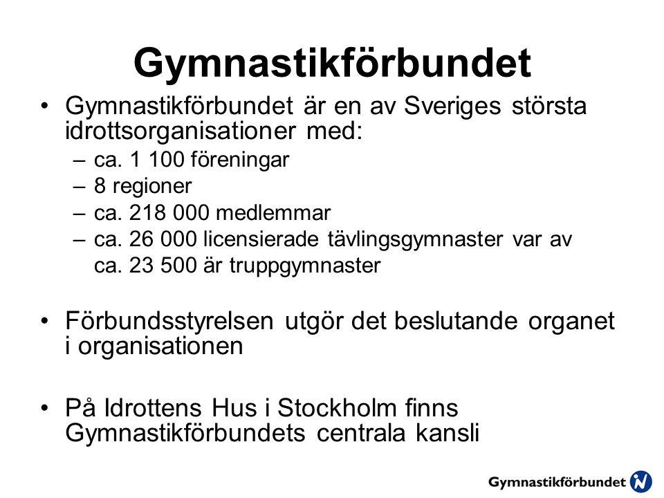 Gymnastikförbundet Gymnastikförbundet är en av Sveriges största idrottsorganisationer med: ca. 1 100 föreningar.