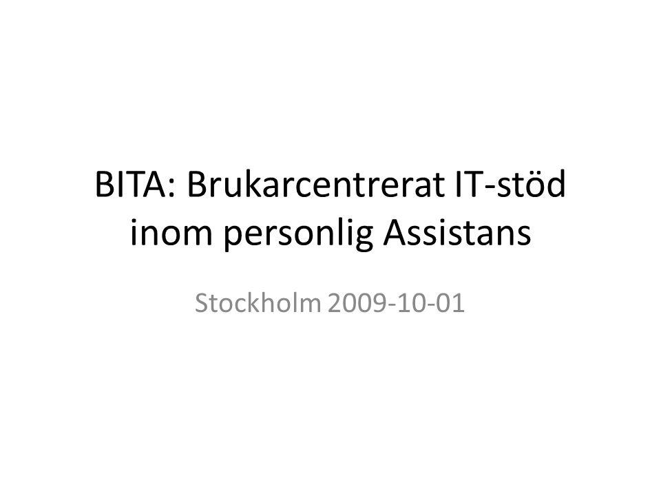 BITA: Brukarcentrerat IT-stöd inom personlig Assistans
