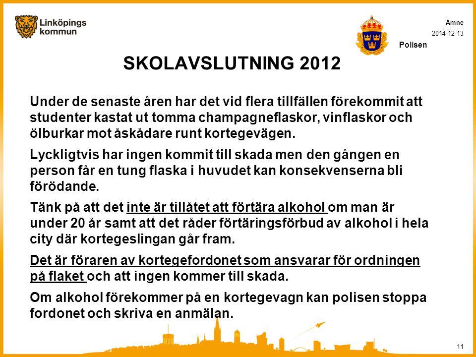Ämne 2017-04-07. Polisen. SKOLAVSLUTNING 2012.