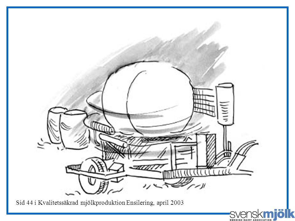 Sid 44 i Kvalitetssäkrad mjölkproduktion Ensilering, april 2003