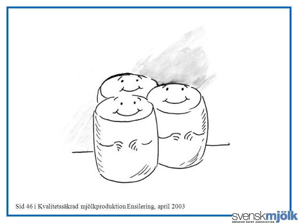 Sid 46 i Kvalitetssäkrad mjölkproduktion Ensilering, april 2003