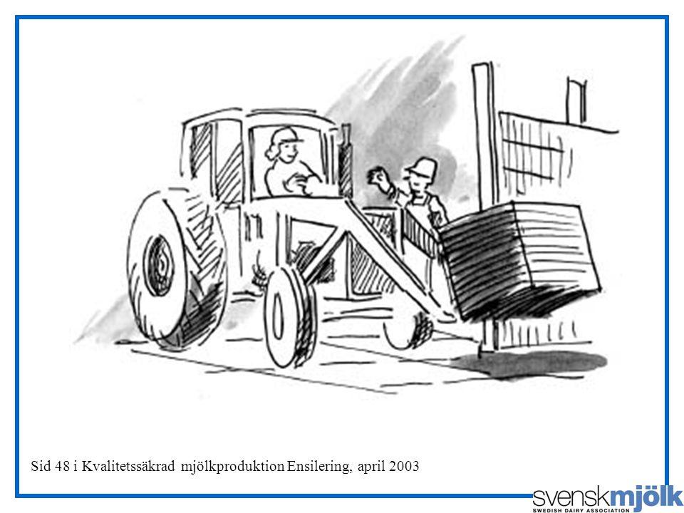 Sid 48 i Kvalitetssäkrad mjölkproduktion Ensilering, april 2003