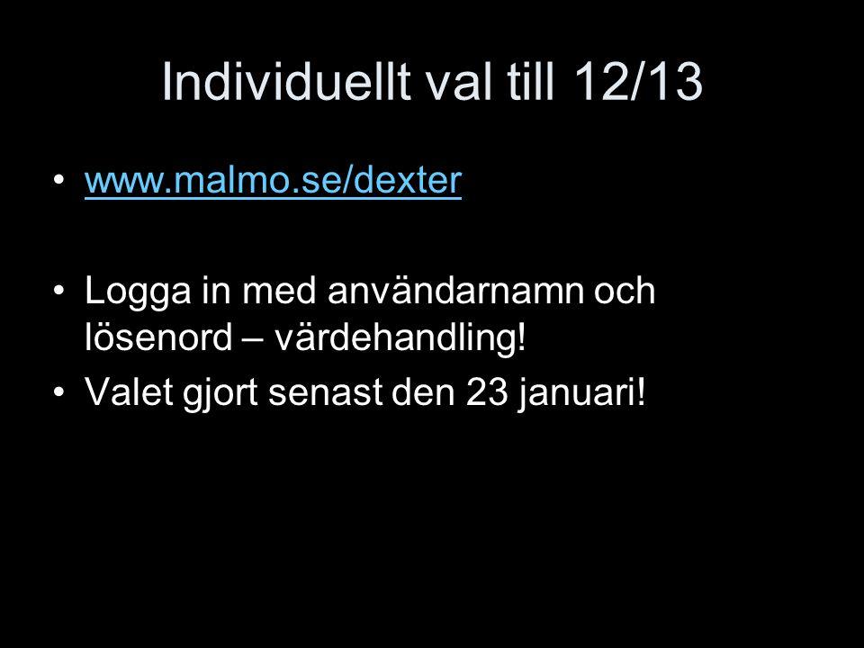 Individuellt val till 12/13