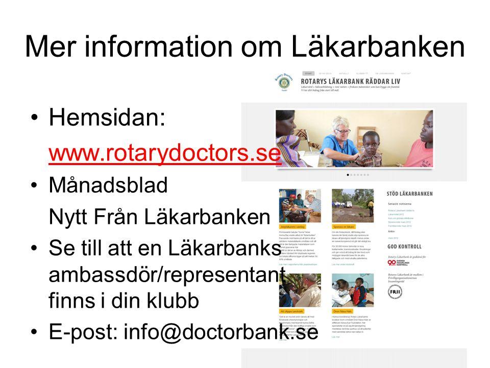 Mer information om Läkarbanken