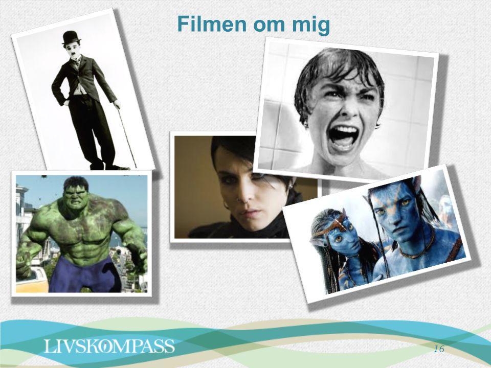Filmen om mig Notera att dessa två bilder som handlar om filmen om mig skrivs ut dubbelsidigt på A4.