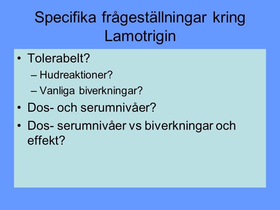 Specifika frågeställningar kring Lamotrigin