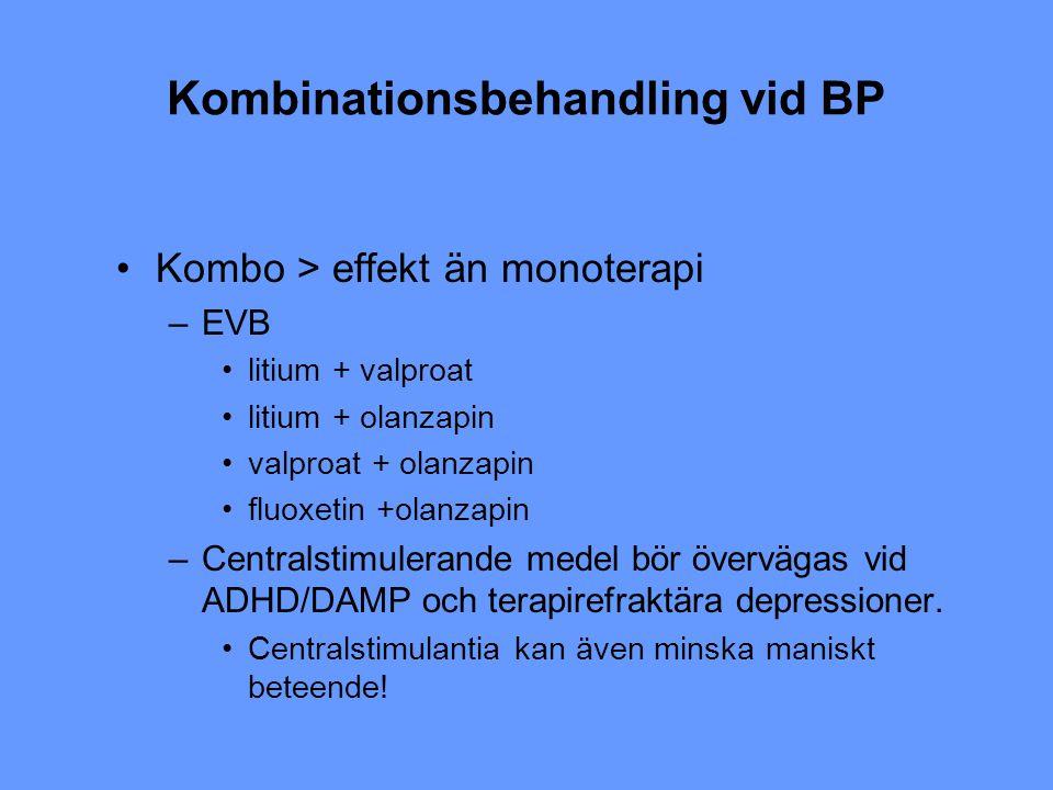 Kombinationsbehandling vid BP