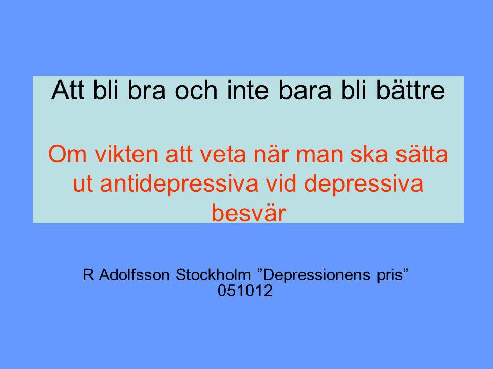 R Adolfsson Stockholm Depressionens pris 051012