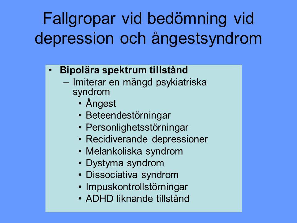 Fallgropar vid bedömning vid depression och ångestsyndrom