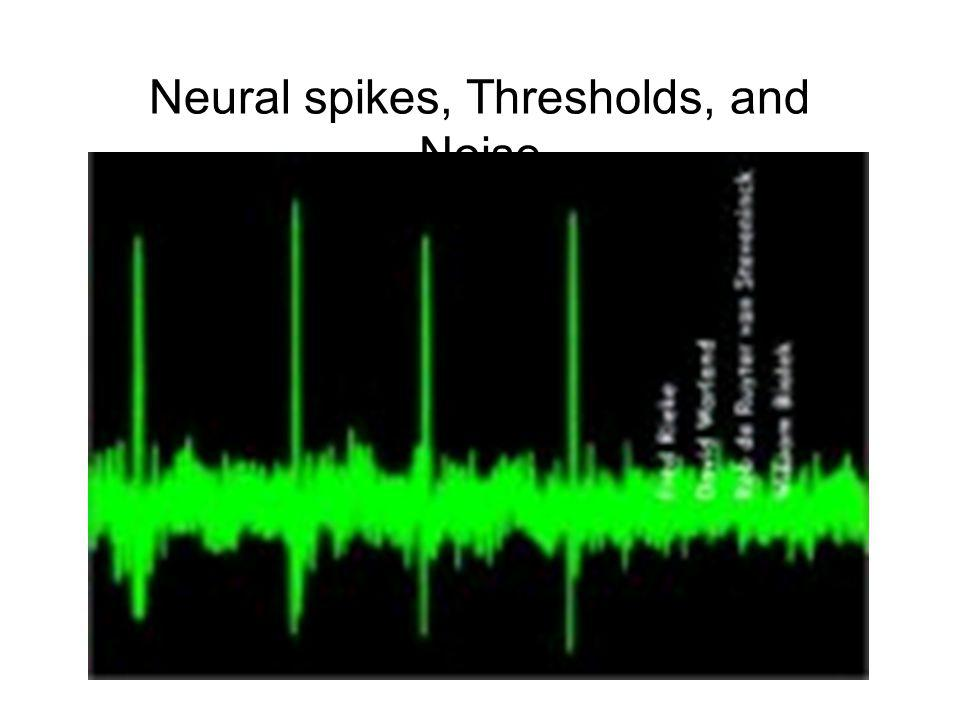 Neural spikes, Thresholds, and Noise
