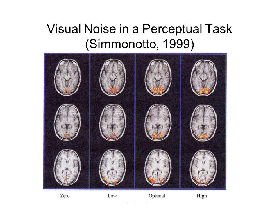 Visual Noise in a Perceptual Task (Simmonotto, 1999)