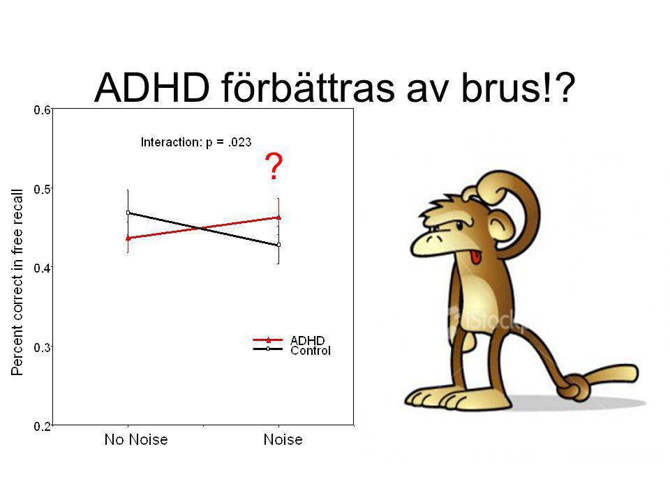 ADHD förbättras av brus!