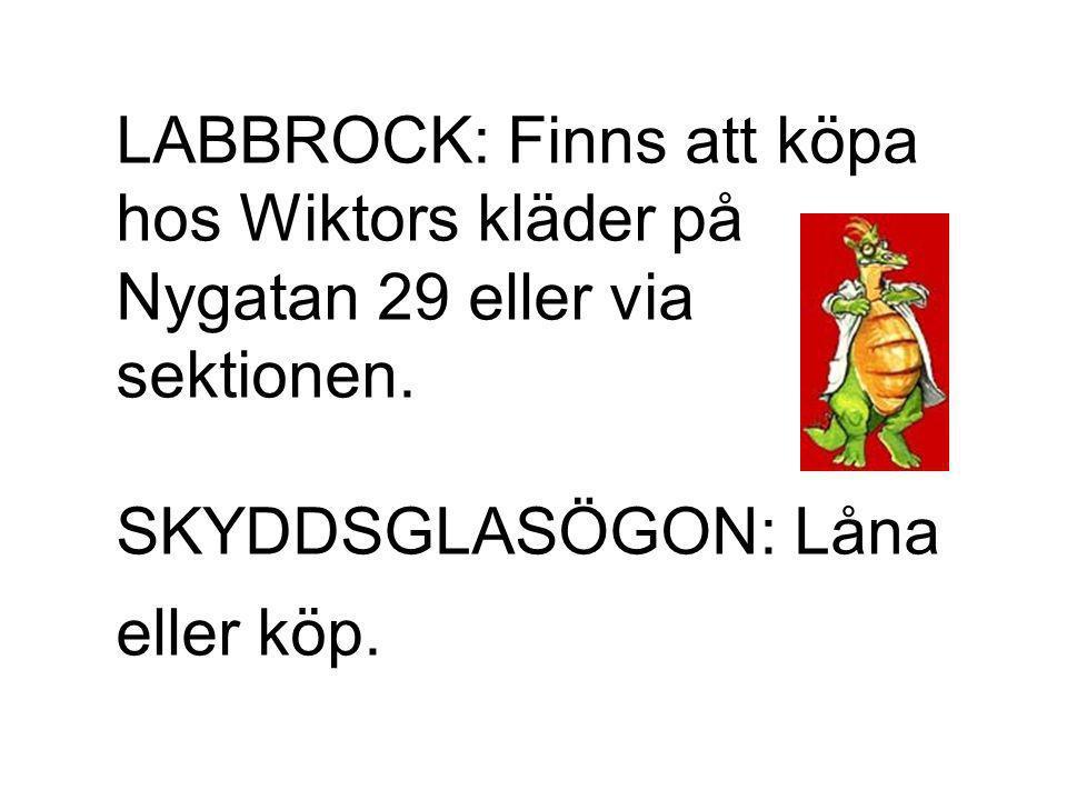 LABBROCK: Finns att köpa hos Wiktors kläder på Nygatan 29 eller via sektionen.