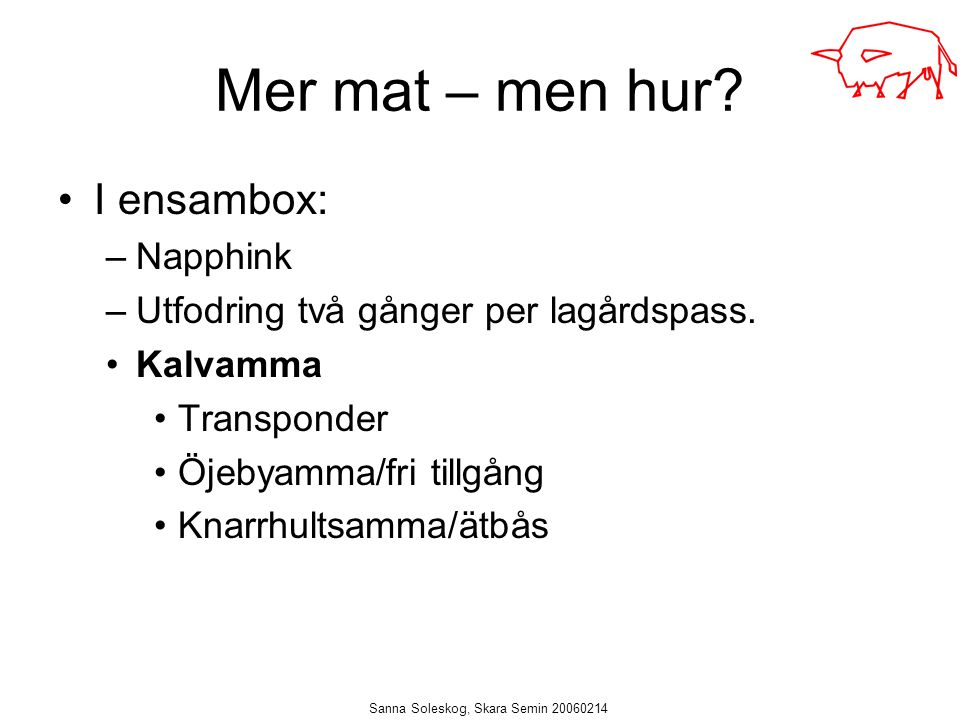 Sanna Soleskog, Skara Semin 20060214
