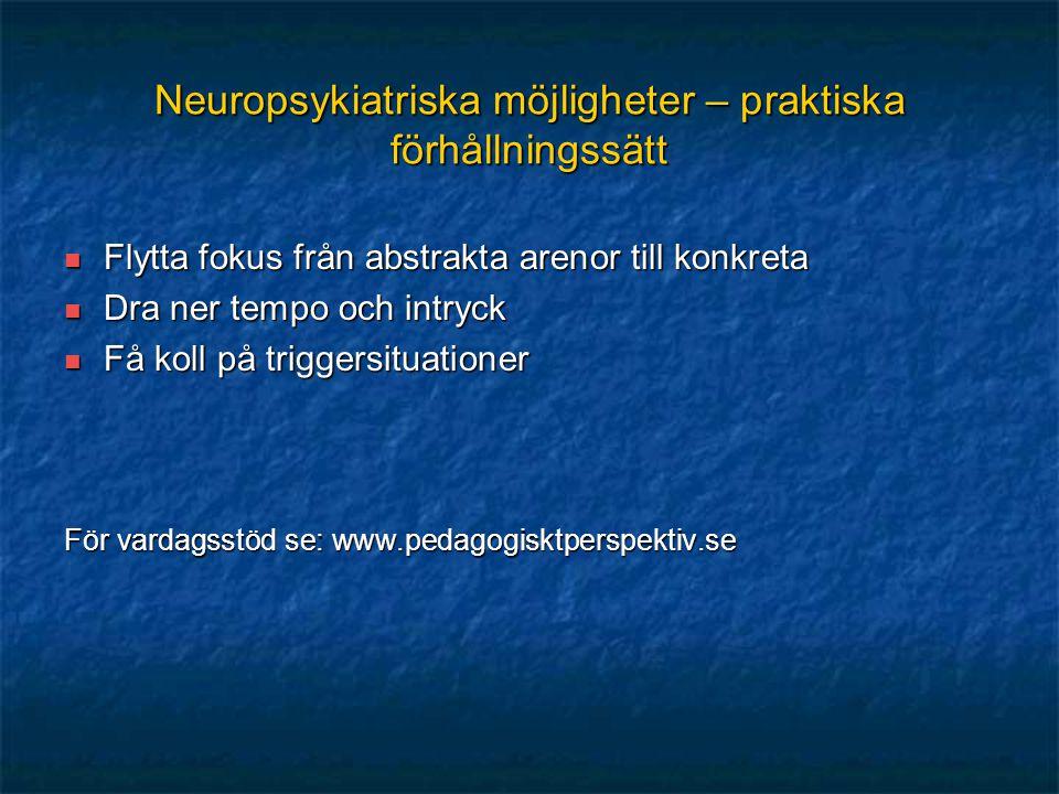 Neuropsykiatriska möjligheter – praktiska förhållningssätt