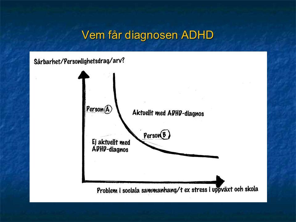 Vem får diagnosen ADHD