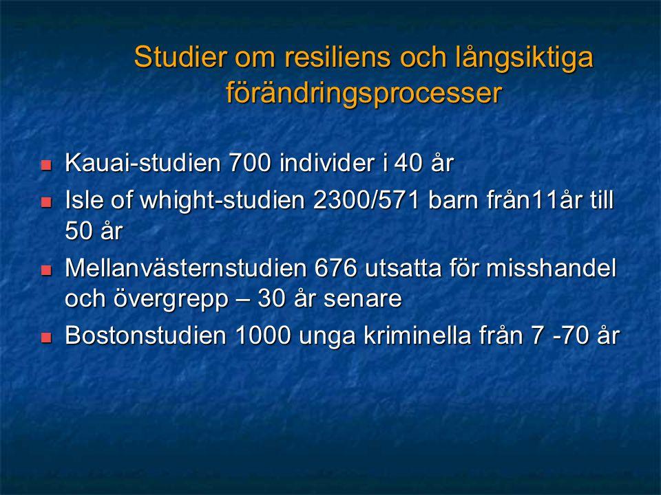 Studier om resiliens och långsiktiga förändringsprocesser