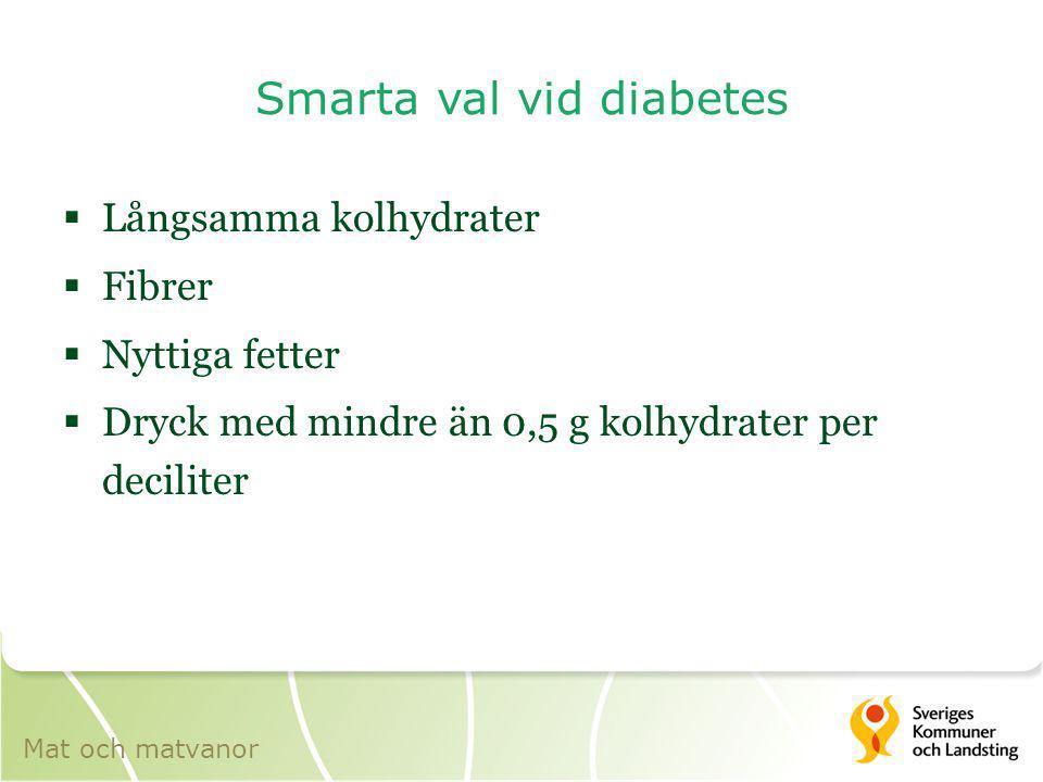 Smarta val vid diabetes