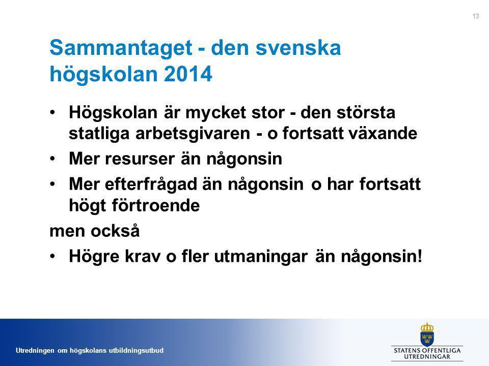 Sammantaget - den svenska högskolan 2014