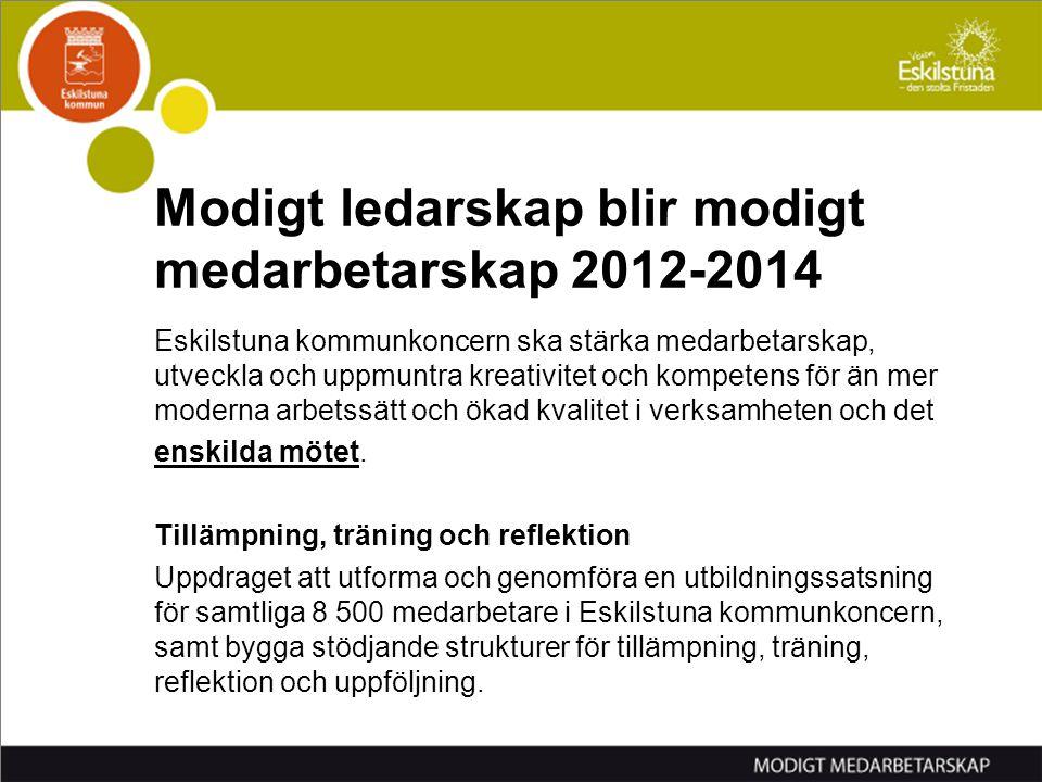 Modigt ledarskap blir modigt medarbetarskap 2012-2014
