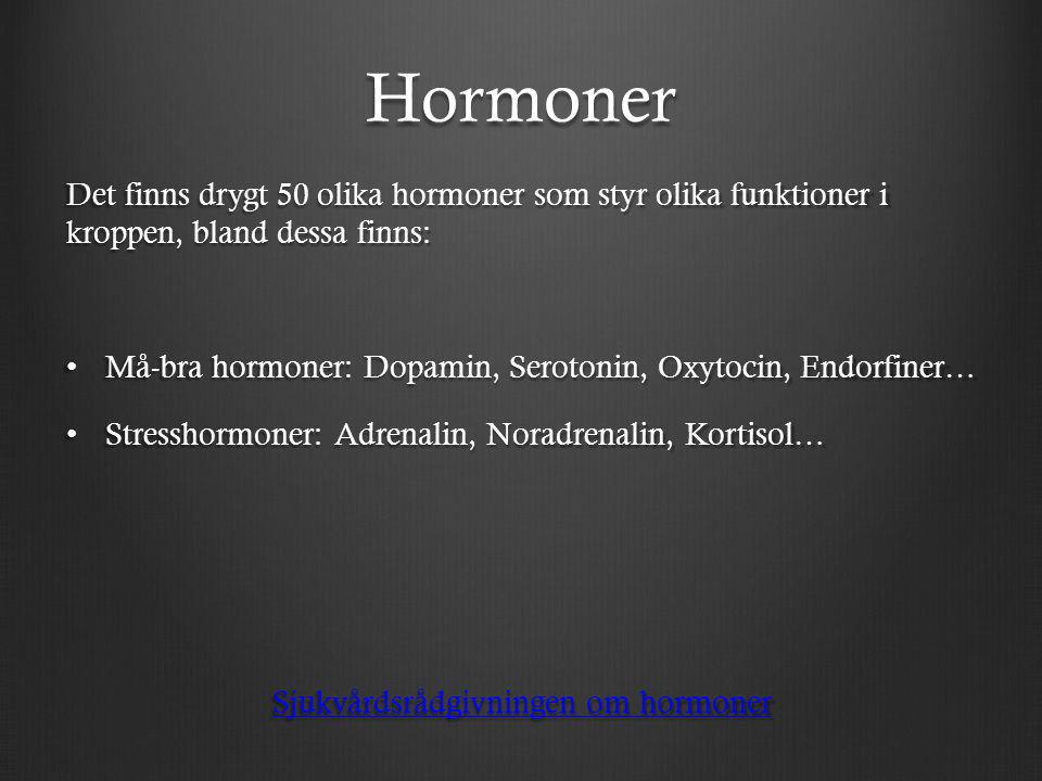 Sjukvårdsrådgivningen om hormoner