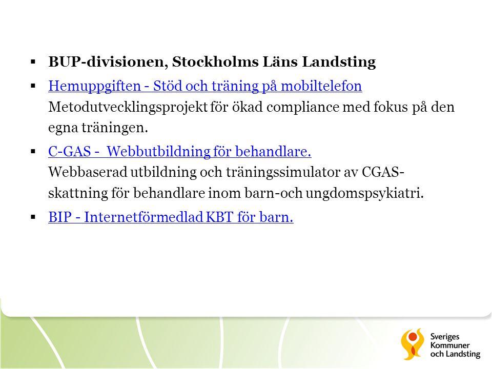BUP-divisionen, Stockholms Läns Landsting
