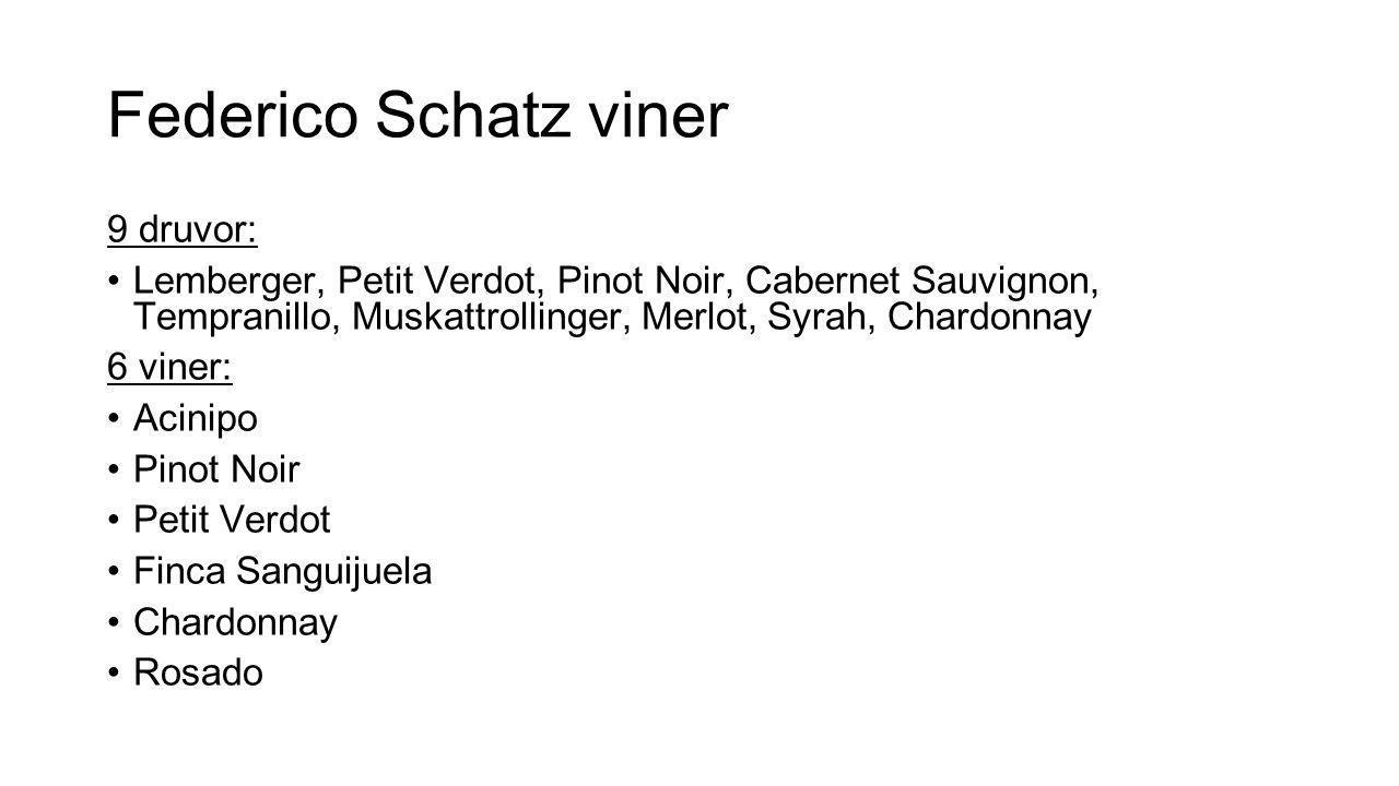 Federico Schatz viner 9 druvor: