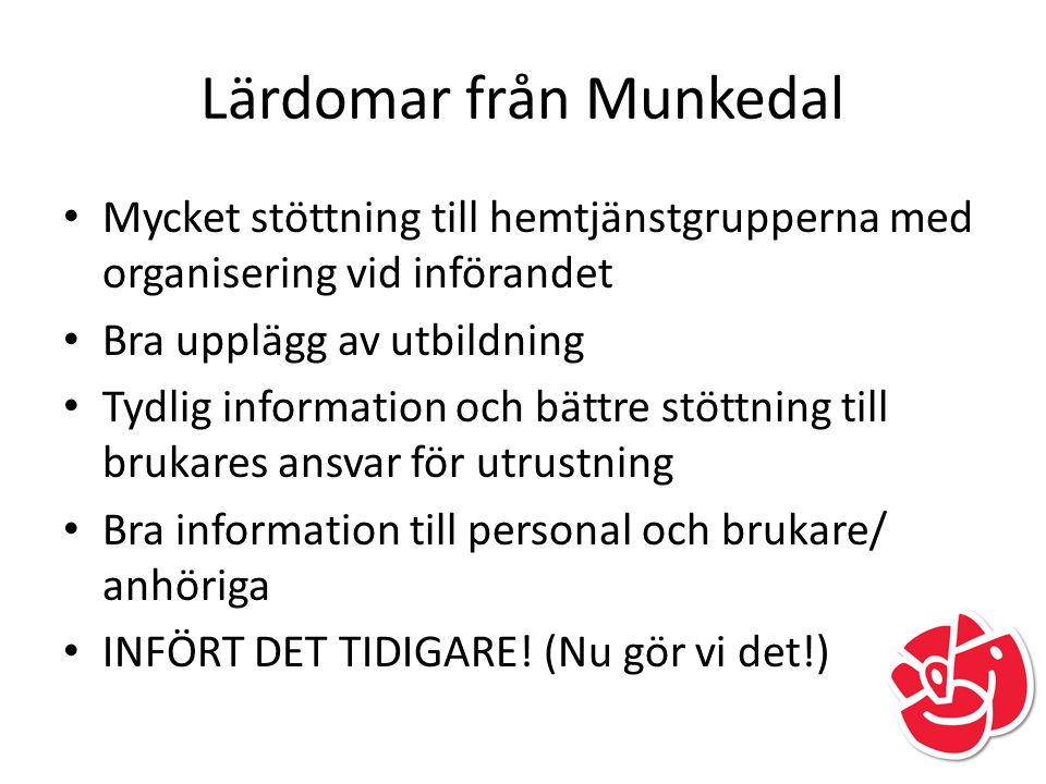 Lärdomar från Munkedal
