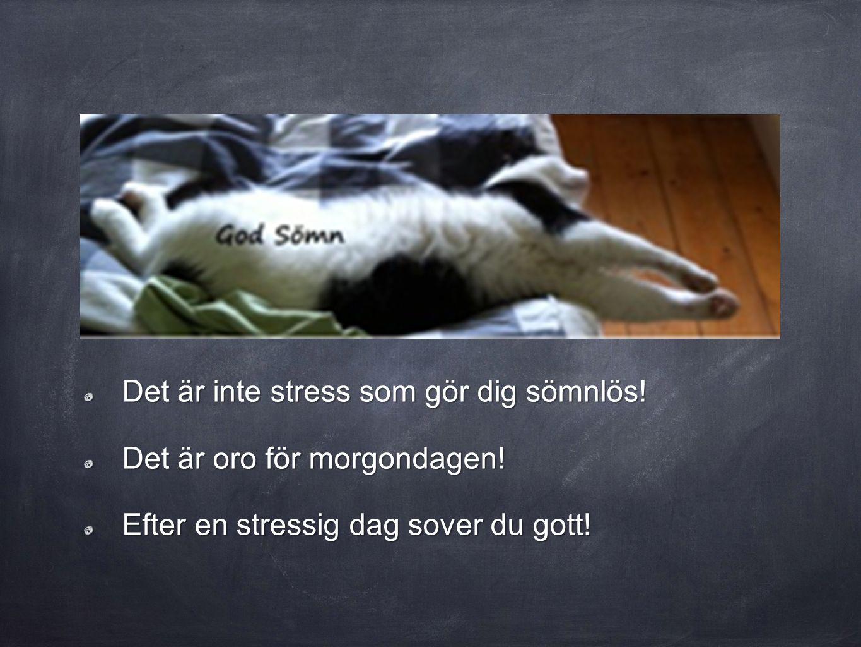 Det är inte stress som gör dig sömnlös!