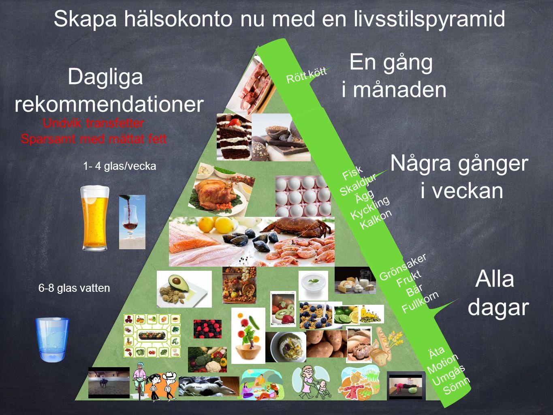 Alla dagar Skapa hälsokonto nu med en livsstilspyramid En gång