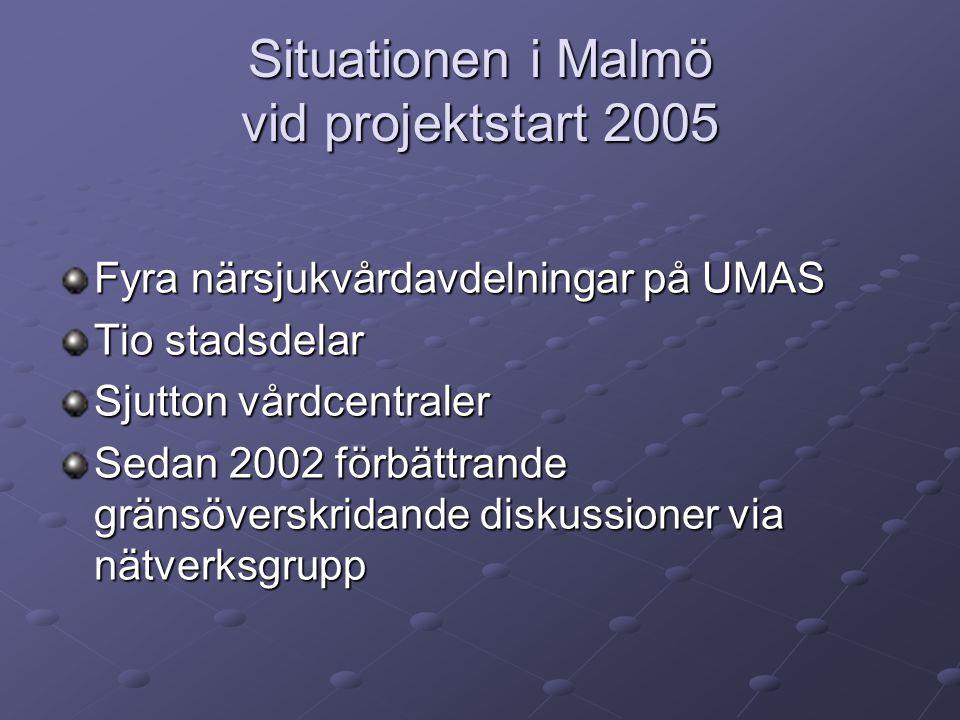 Situationen i Malmö vid projektstart 2005