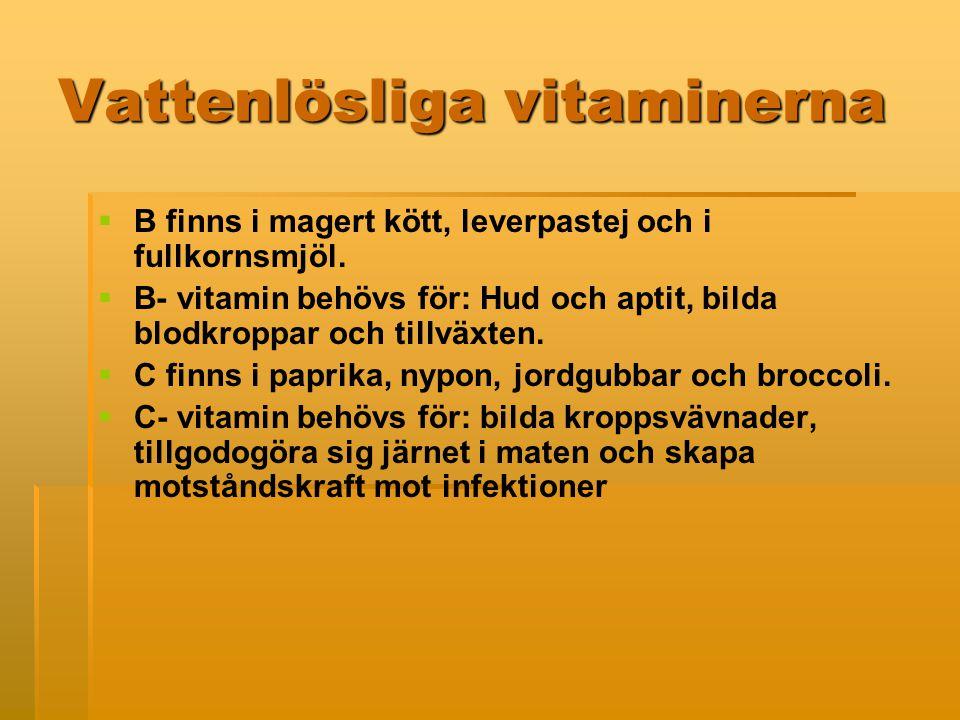 Vattenlösliga vitaminerna