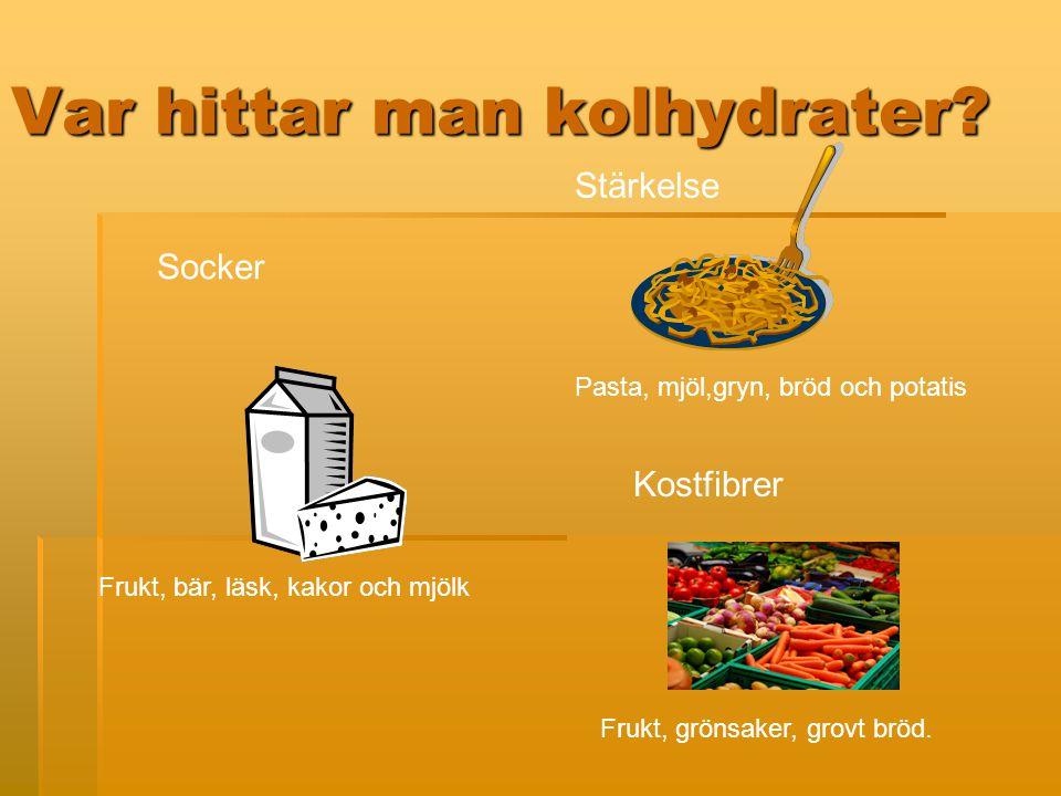Var hittar man kolhydrater