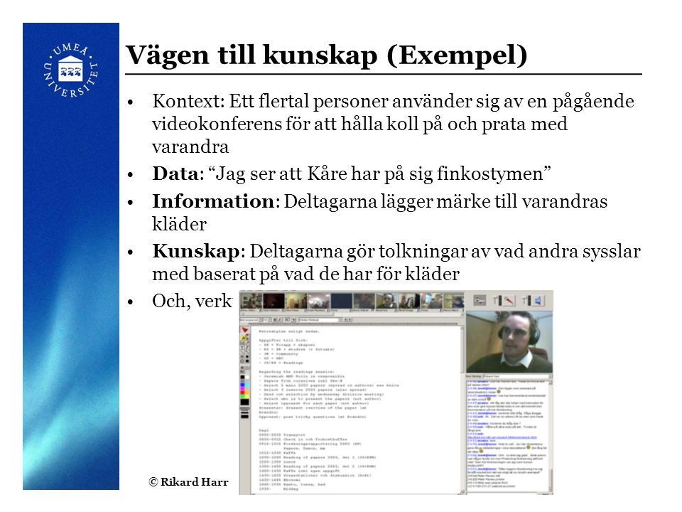 Vägen till kunskap (Exempel)