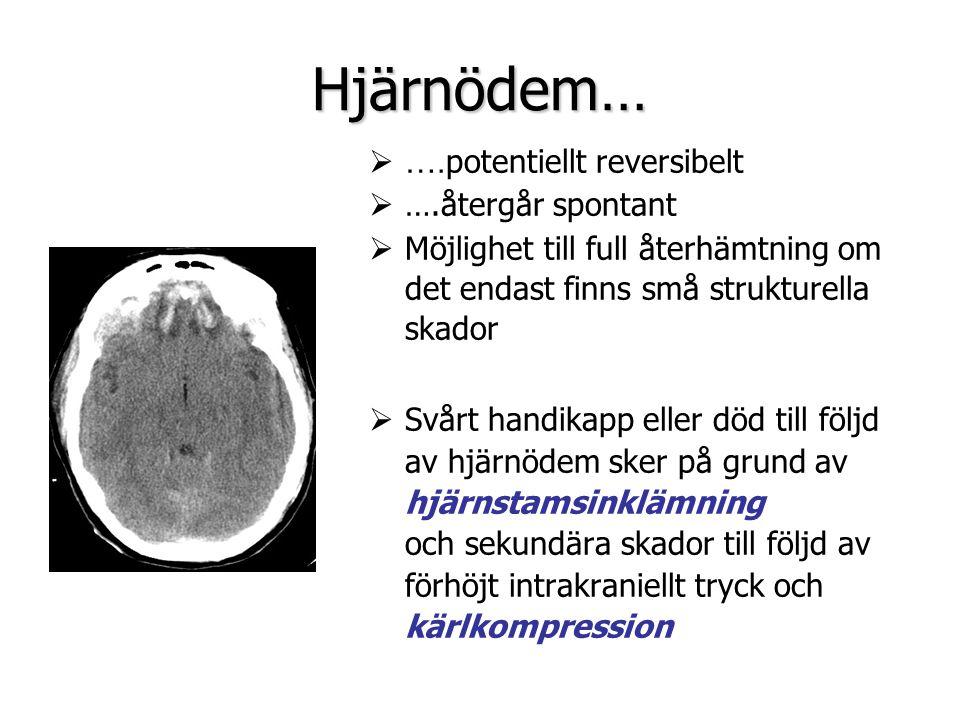 Hjärnödem… ….potentiellt reversibelt ….återgår spontant