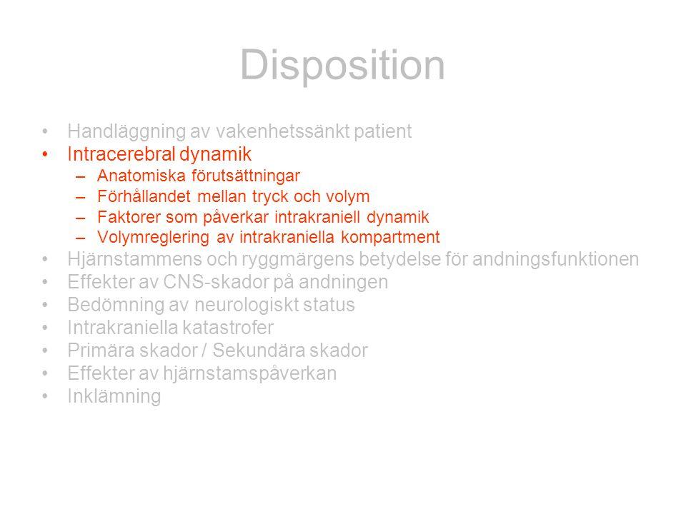 Disposition Handläggning av vakenhetssänkt patient