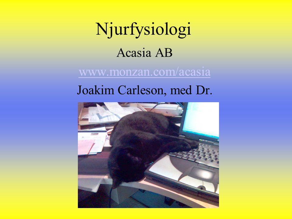 Acasia AB www.monzan.com/acasia Joakim Carleson, med Dr.