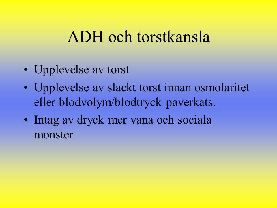 ADH och torstkansla Upplevelse av torst