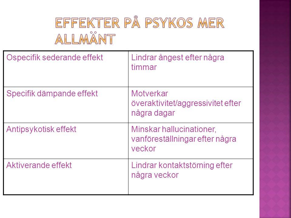 Effekter på psykos mer allmänt