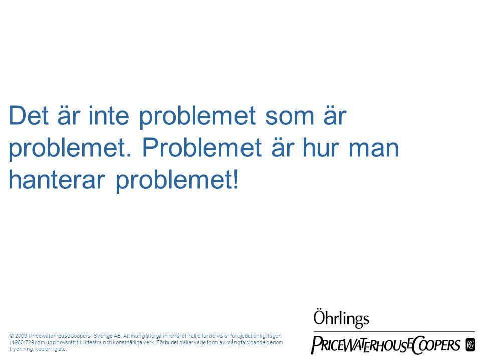 Det är inte problemet som är problemet