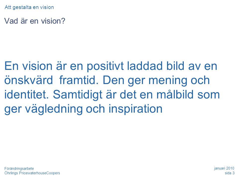 Date Att gestalta en vision. Vad är en vision